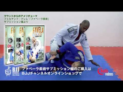 マウントからのアメリチョーク フェルナンド・テレレ先生 ファベーラ柔術サブミッションより  ブラジリアン柔術