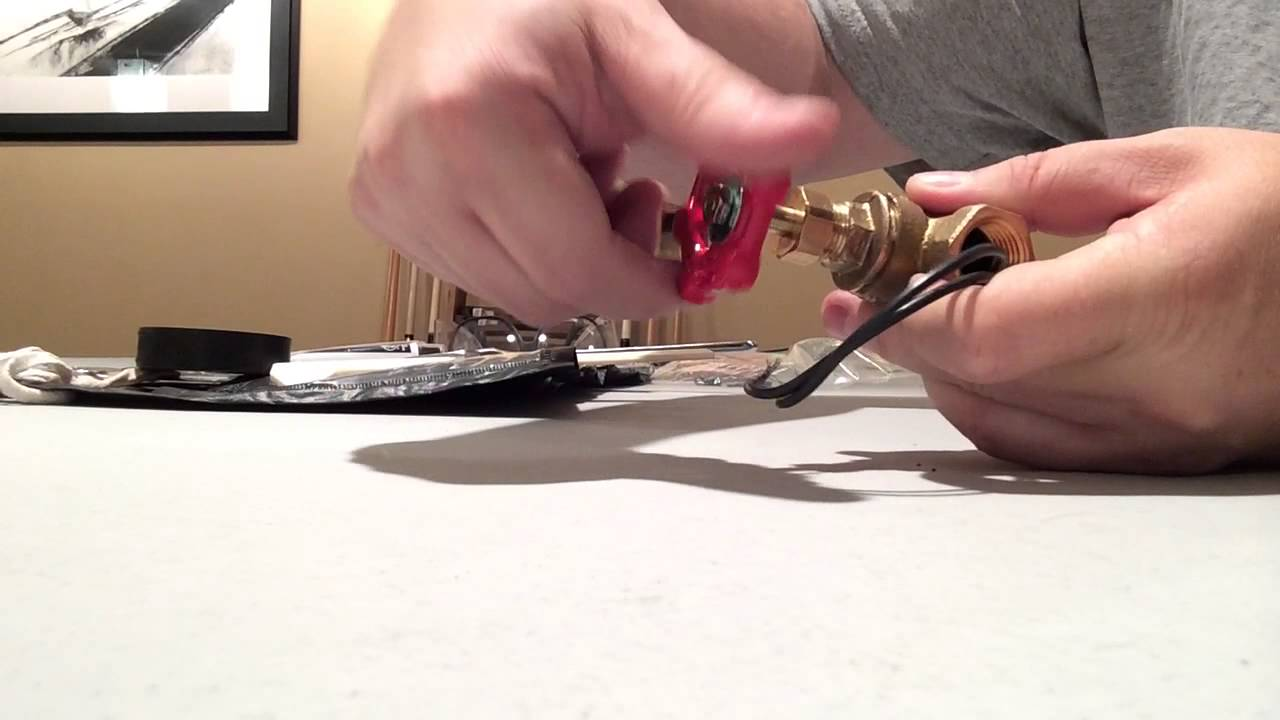 Water valve light switch demo - YouTube