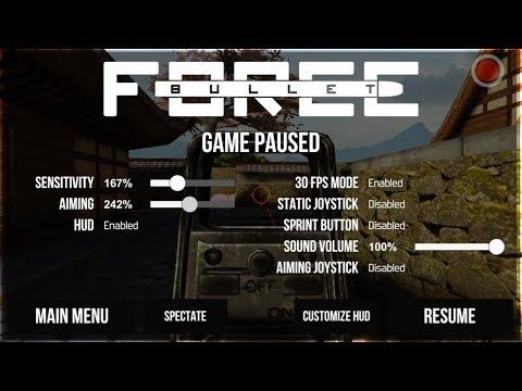 Bullet Force - In Game Settings