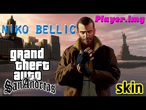 GTA NEW NIKO BELLIC SKIN Player.img PARA GTA SAN ANDREAS FULL HD 1080p60