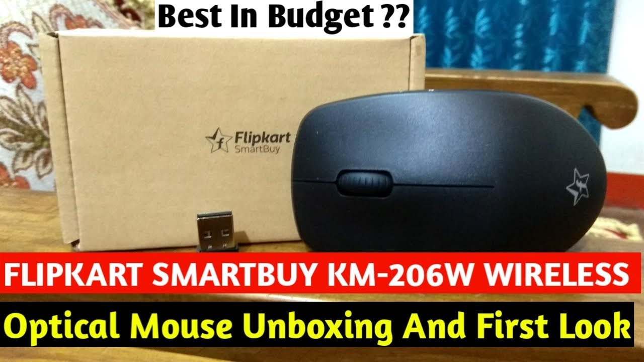 be4583d0748 Flipkart SmartBuy KM-206W Wireless Optical Mouse Unboxing and First Look ||  Best Wireless Mouse ??