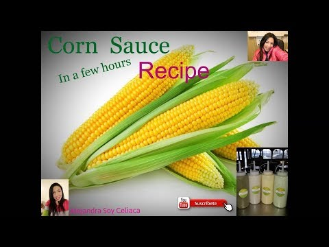 Como Hacer Salsa De Maiz Venezolana Casera Corn Sauce 003 Youtube
