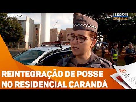 Reintegração de posse no residencial Carandá - TV SOROCABA/SBT