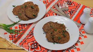 Печеночные котлеты из куриной печени  с рисом (печеночные оладьи)