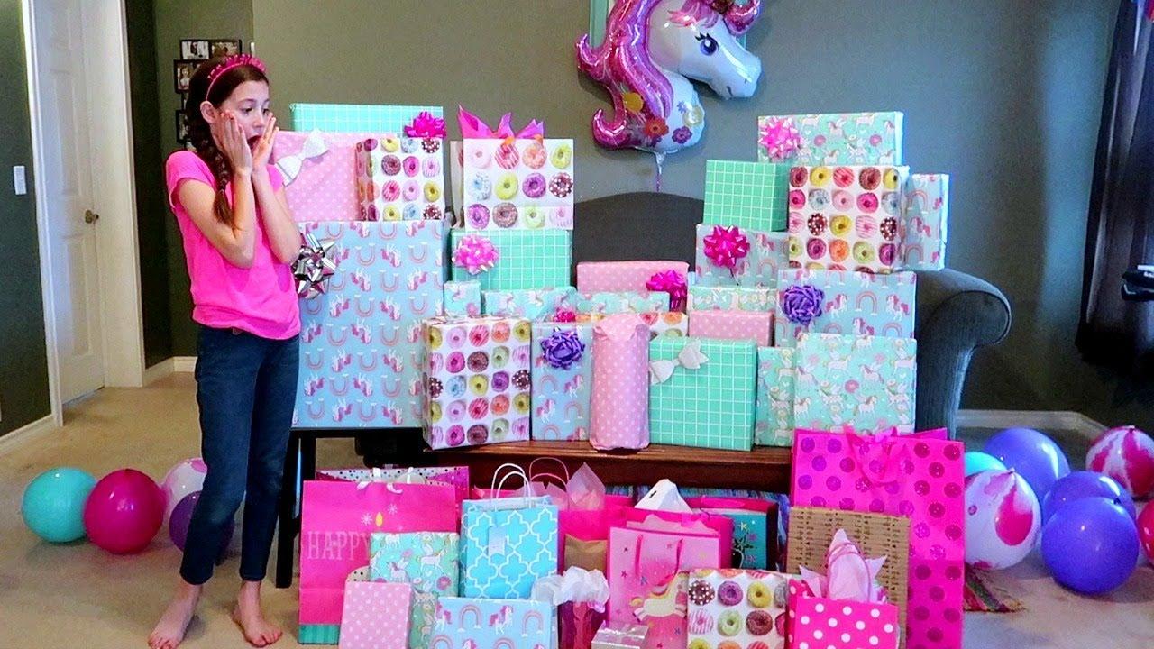 Birthday Morning Opening Presents Sadie S 11th Birthday