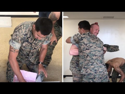 Marine Celebrates Gender Reveal Overseas With Colleagues