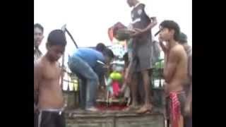 Shri Ganesh visarjan bilaspur C.G. arpa river