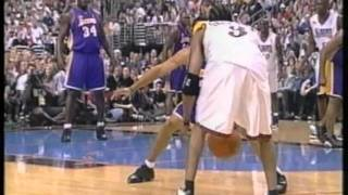 Shaq 30 pts, Kobe 31 pts vs Iverson 35 pts, nba finals 2001, lakers vs 76ers game3
