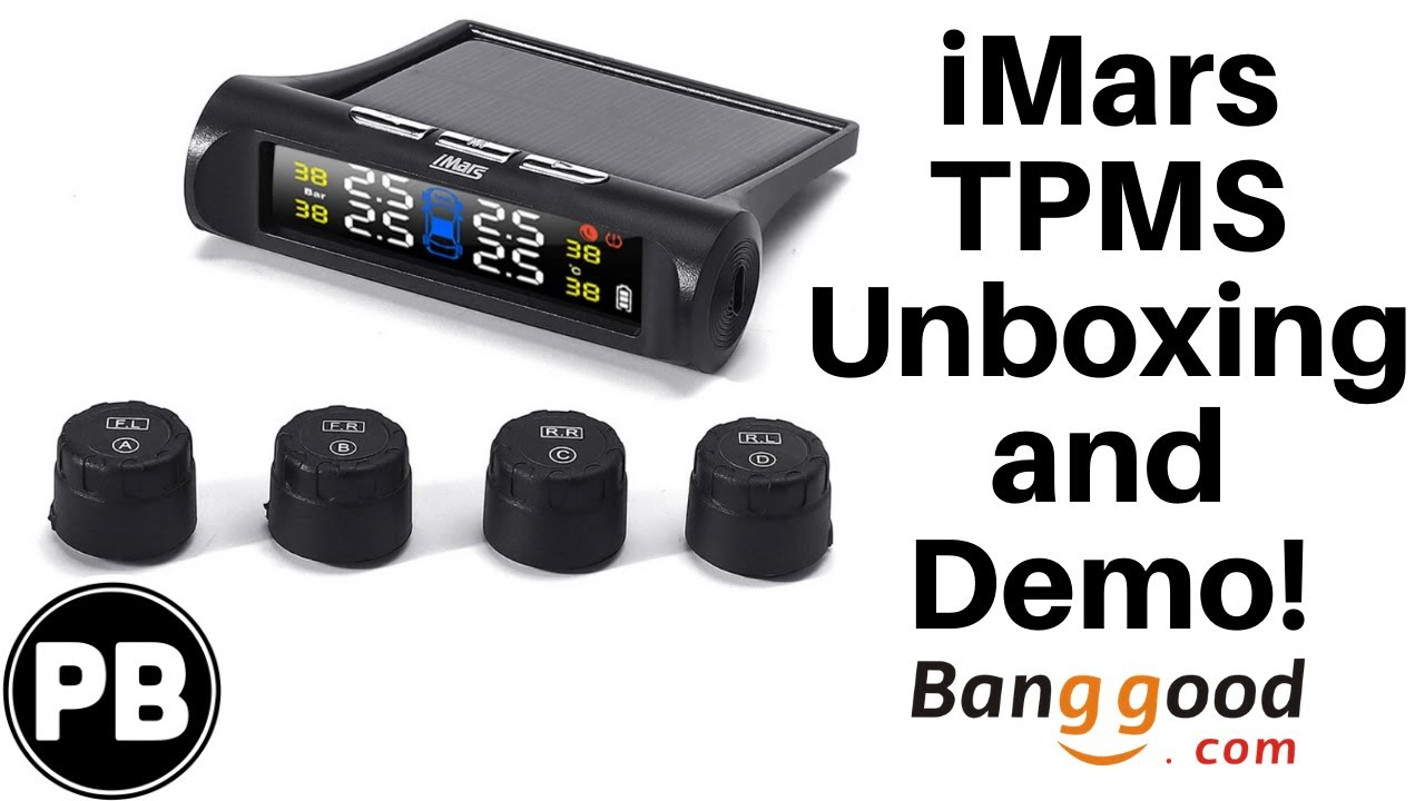 iMars Tire Pressure Monitoring System Unboxing and Demo! | iMars T240
