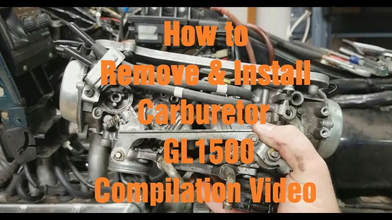 How to Remove & Install the Carburetor on a GL1500: Compilation Video