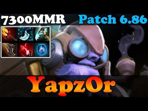Dota 2 - Patch 6.86 : YapzOr 7300MMR Plays Tinker - Pub Match Gameplay