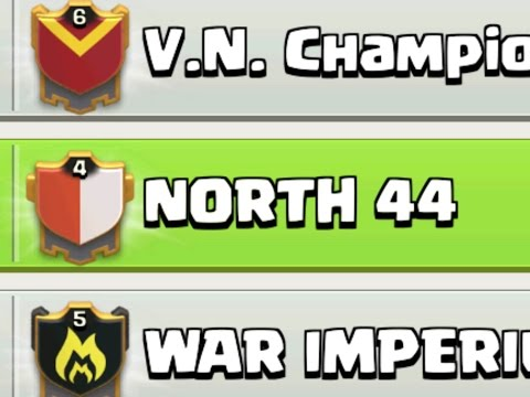 Clash of clans - Joining North44 + Jorge Yao