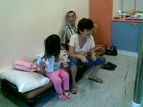 Bernice's Grandparents Visit Her In KK Hospital