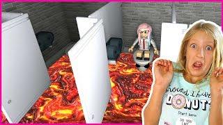 FLOOR IS LAVA in the BATHROOM!