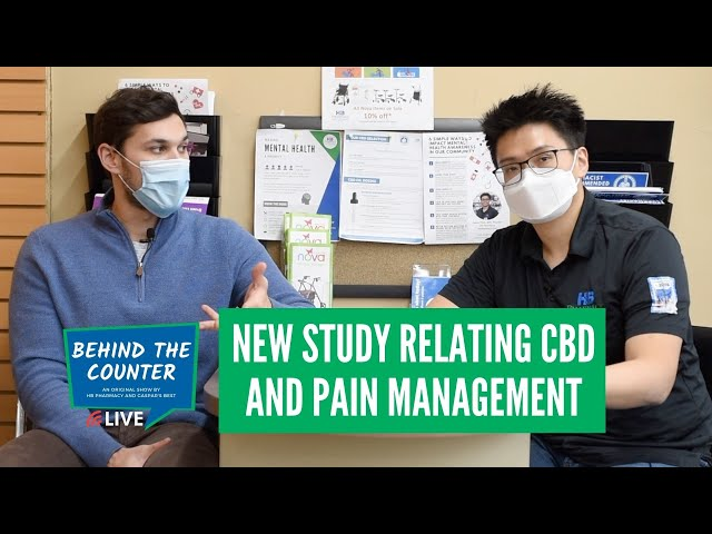 New Study Relating CBD and Pain Management