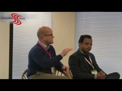 Panel discussion with Rajdip Gupta @ messaging And SMS world in London