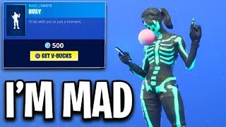 this emote makes me MAD!! Fortnite ITEM SHOP (November 4) *NEW* Busy Emote in the Item Shop today!!