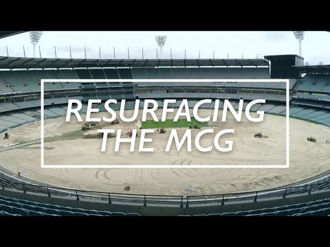 MCG Resurfacing Timelapse Video