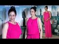 Sridevi Hot In Pink Jumpsuit At IRADA Special Screening