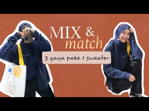 OOTD Hijab with 1 SWEATER  (Indonesia) - YouTube