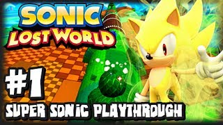 Sonic Lost World Wii U - (2K HD) Super Sonic Playthrough - Part 1