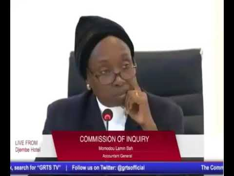 Modou Lamin Bah (Accountant General) Testifies At The Gambia Commission Of Enquiry