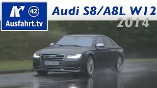 2014 Audi S8 und A8L W12 Fahrbericht der Probefahrt Test Review