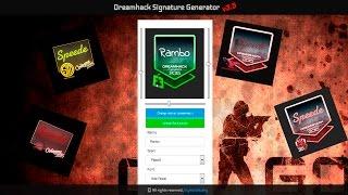 Dreamhack Signate Generator v3.5 или как получить свой стикер с росписью!?