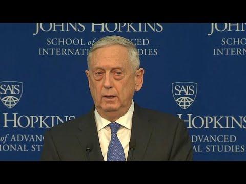 Terrorism no longer the military's No. 1 priority, Mattis says