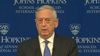 Terrorism no longer the military's No. 1 priority, Mattis says