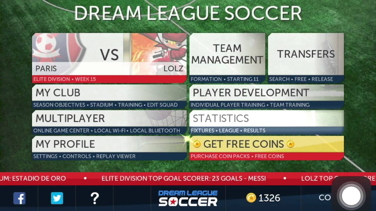 Dream league soccer introduction of the new update 2014 youtube