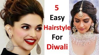 5 easy hairstyle for diwali special || quick hairstyle || simple hairstyle || cute hairstyle