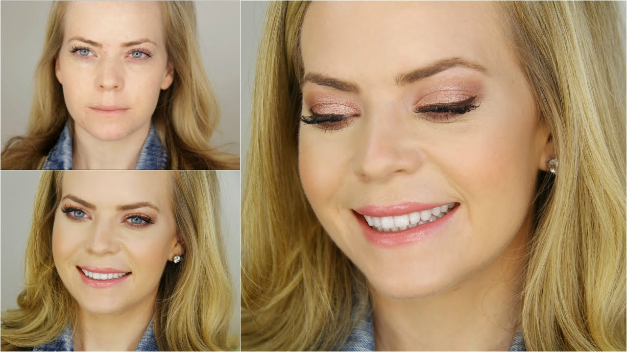 bronzed peach makeup - youtube