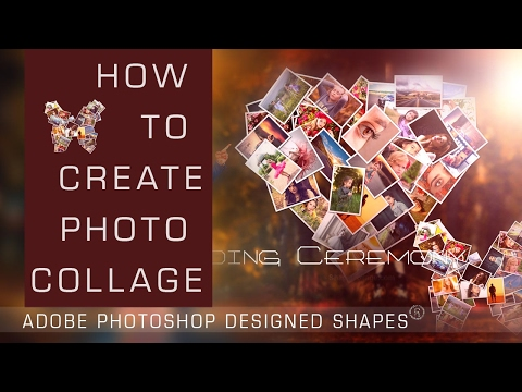 Free Photo Collage with your Desired Shapes with Photoshop