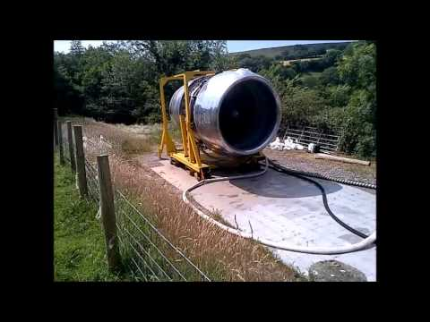 Rolls Royce RB211 jet engine gas turbine turbofan backyard summer 2013