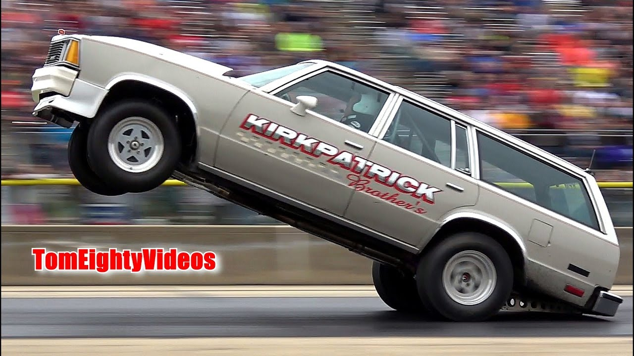 Ricky Kirkpatrick's 1981 Chevy Malibu Wagon  Byron Wheelstand Contest  Winner!