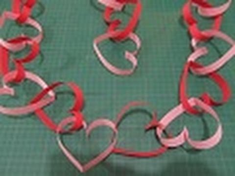 Manualidades para san valentin 4 cadena guirnalda de - Como hacer adornos de san valentin ...