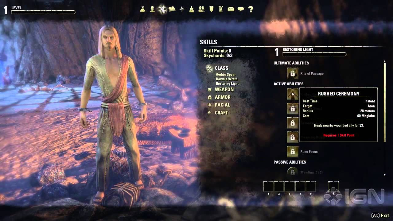 Elder Scrolls Online Create The Best Character For Your