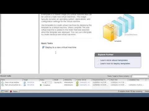VM-Management -- Klonen/Vorlagen