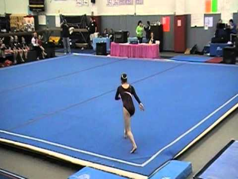 Ali House   Level 8 New York State Gymnastics Championship Floor Routine    YouTube