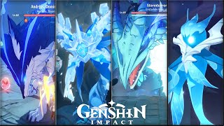Genshin Impact - All Bosses Gameplay Showcase - How to Fight Guide - CBT1 to Final CBT