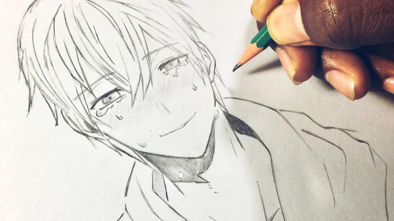 كيفية رسم ولد حزين يبكي Drawing Sad Boy Youtube