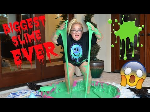 BIGGEST SLIME EVER! | Lauren Godwin