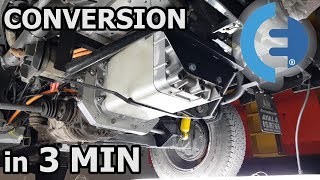 CONVERSION INTO ELECTRIC in 3 minutes – DIY  VW T3 syncro #EVWT