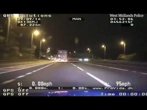 Police chase through West Midlands caught on dashcam