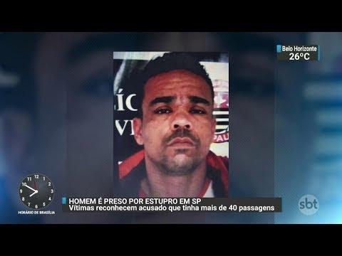 Homem acusado de roubar e violentar mulheres é preso em São Paulo | SBT Brasil (27/10/17)