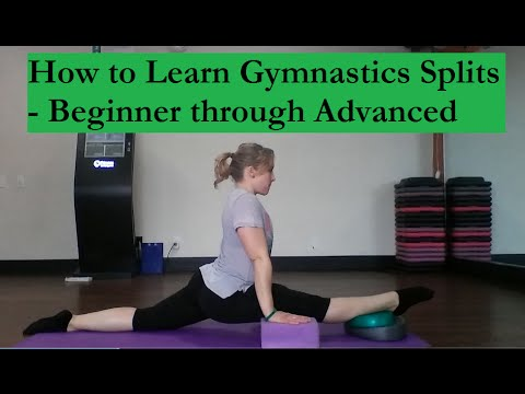 how to learn gymnastics splits  easy  beginner thru