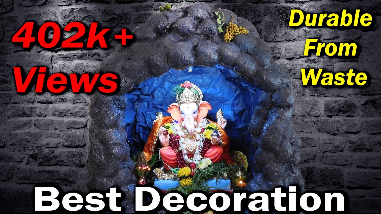 Download Making of Last Few Hours Ganpati Decoration Idea at My Home | Based on Cave Theme | Gaurav | 2016 |