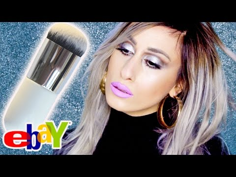 eBay 99c Cheap FOUNDATION Airbrushing DUPE Mushroom Makeup Brush // REVIEW + DEMO!