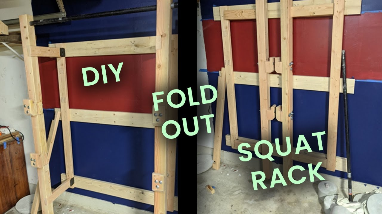 fold out squat rack